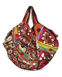 Simone Camille - Multicolor Carry All Vintage Fabric Beaded Tote - Lyst