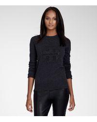 Tory Burch | Gray Vika Logo Sweater | Lyst