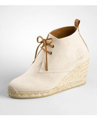 Tory Burch | Natural Desert Bootie Wedge Espadrille | Lyst