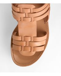 Tory Burch | Natural Lorraine Woven Wedge | Lyst