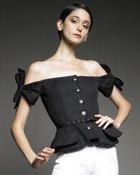 Dior | Black Eva Off-the-shoulder Jacket | Lyst