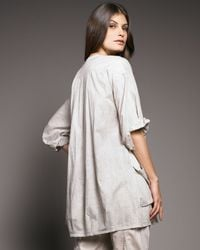 Donna Karan | Natural Victorian Voile Pocket Tunic | Lyst