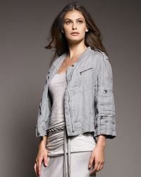 Donna Karan - Purple Washed Linen Jacket - Lyst