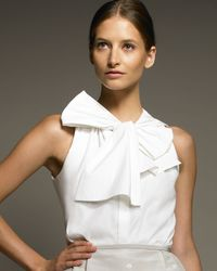 Jason Wu | White Bow-neck Blouse | Lyst