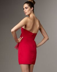 Marchesa | Pink Strapless Organza Ruffle Dress | Lyst
