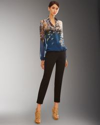Akris - Blue Printed Silk Shirt - Lyst