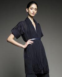 Akris | Blue Chiffon-tubule Poplin Jacket | Lyst
