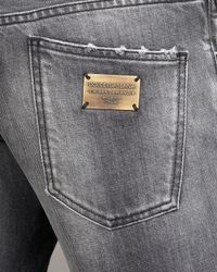 Dolce & Gabbana - Faded Black Jeans for Men - Lyst