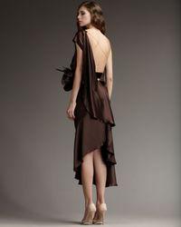 Marc Jacobs - Brown One-shoulder Floral-belt Dress - Lyst