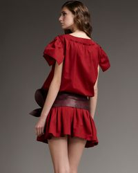Marc Jacobs | Red Drop-waist Ruffle-skirt Dress | Lyst