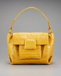 Nancy Gonzalez | Natural Square-flap Croc Satchel | Lyst