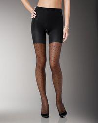 Spanx - Black Sheer Fashion Pantyhose - Lyst