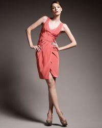 Zac Posen - Pink Seamed-waist Dress - Lyst