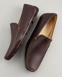Ferragamo - Pacifico Driver, Brown Calf for Men - Lyst