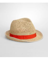 Tory Burch | Natural Grosgrain Fedora | Lyst
