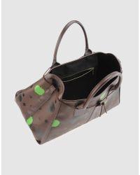 Comme des Garçons - Brown Large Leather Bag - Lyst
