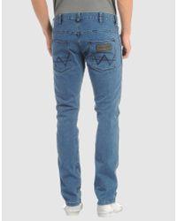 Wrangler - Blue Boyton Mid Wash Tapered Jeans for Men - Lyst