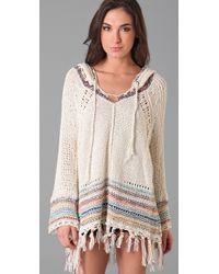Free People - Natural Tah Loo Hooded Sweater - Lyst