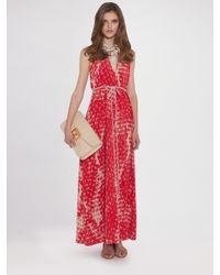 Gryphon | Pink Silk Halter Dress | Lyst