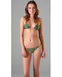 Insight | Green Leni Fawcett Triangle Bikini | Lyst