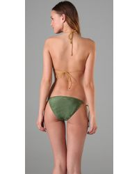 Insight Green Leni Fawcett Triangle Bikini