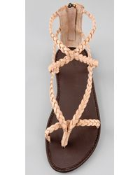 Joie | Pink Mccartney Braided Thong Sandals | Lyst