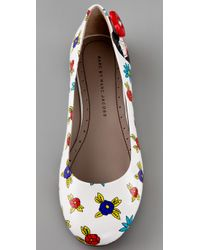 Marc By Marc Jacobs | White Miss Marc Flower Ballet Flats | Lyst
