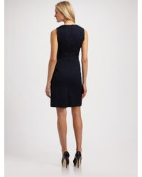 MILLY | Blue Maxine Beaded Dress | Lyst