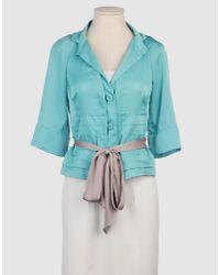 Pf Paola Frani | Blue Blazer | Lyst