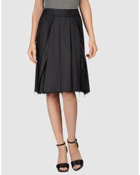 Philosophy di Alberta Ferretti | Black Knee Length Skirt | Lyst