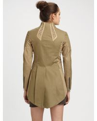 Rag & Bone | Green Combat Tail Coat | Lyst