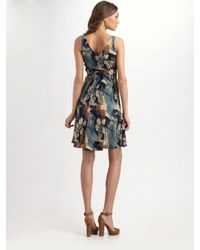 Ralph Lauren Blue Label | Multicolor Heloise Sleeveless Silk Dress | Lyst