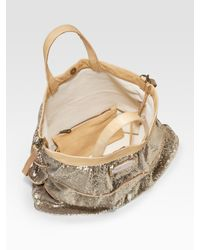 RED Valentino - Metallic Sequined Ruffle Tote - Lyst