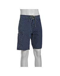 Relwen - Blue Navy Polka Dot Cotton Board Shorts for Men - Lyst
