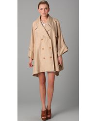 Viktor & Rolf - Natural Trench Cape in Beige - Lyst