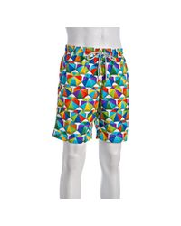 Vilebrequin | Blue Beach Umbrella Okoa Drawstring Swim Trunks for Men | Lyst