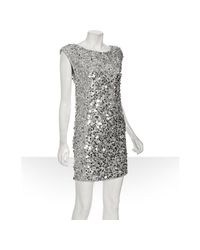 Alice + Olivia - Metallic Casey Paillette-embellished Silk Dress - Lyst