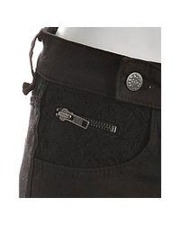 BCBGeneration   Black Stretch Lace Detail Zip Skinny Leg Jeans   Lyst