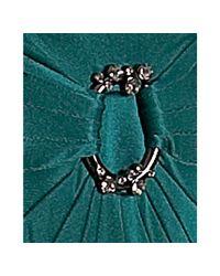BCBGMAXAZRIA - Green Dark Teal Jersey Double Halter Neck Gown - Lyst