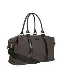 Ben Sherman | Gray Dark Grey Canvas Duffel Bag for Men | Lyst