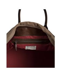 Brunello Cucinelli | Brown Tan Canvas and Leather Large Travel Tote for Men | Lyst