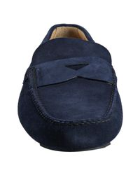 Church's | Blue Suede Luigi Loafers for Men | Lyst