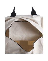 Comme des Garçons - White Ivory Canvas Black Striped Duffel Bag for Men - Lyst