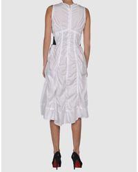 Comme des Garçons - White 3/4 Length Dress - Lyst