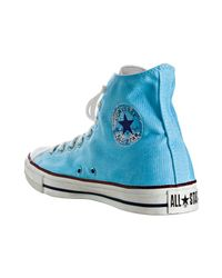 Converse - Sky Blue Watercolor Canvas High-top Sneakers for Men - Lyst