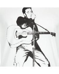 Dolce & Gabbana - White Elvis Print T-shirt for Men - Lyst