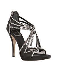 Dior | Black Mesh Starlight Crystal Detail Sandals | Lyst