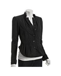 Elizabeth and James - Black Taffeta Victorian Cropped Jacket - Lyst