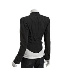 Elizabeth and James | Black Taffeta Victorian Cropped Jacket | Lyst