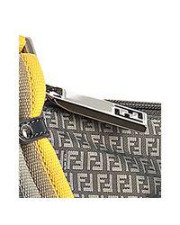 Fendi | Gray Grey Zucchino Nylon Pocket Messenger Bag for Men | Lyst